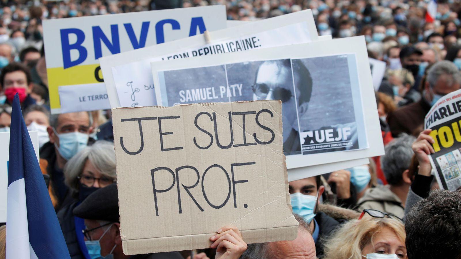 Manifestantes durante la marcha. (Reuters)