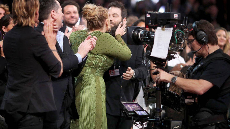 Adele, con su exmarido, Simon Konecki. (Getty)