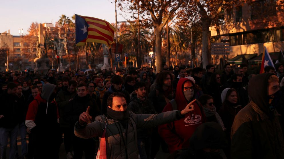 Las protestas reducen un 57% tráfico de entrada a Barcelona en hora punta matinal