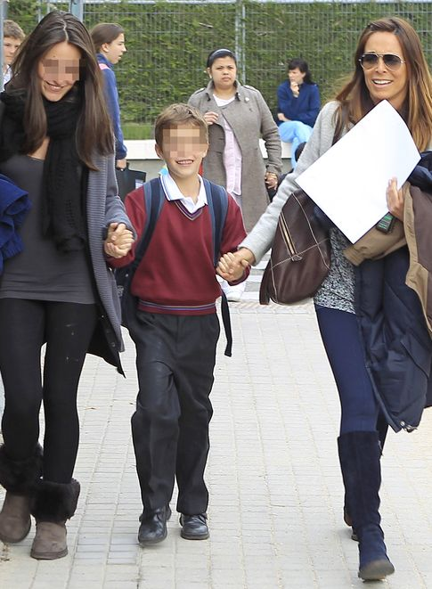 Lydia junto a sus hijos Andrea y Juan (I.C.)