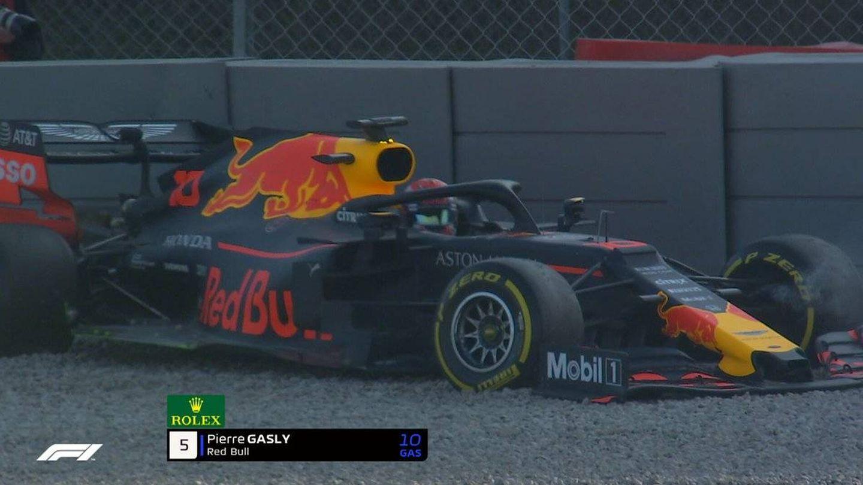 Así acabó Gasly con su Red Bull.