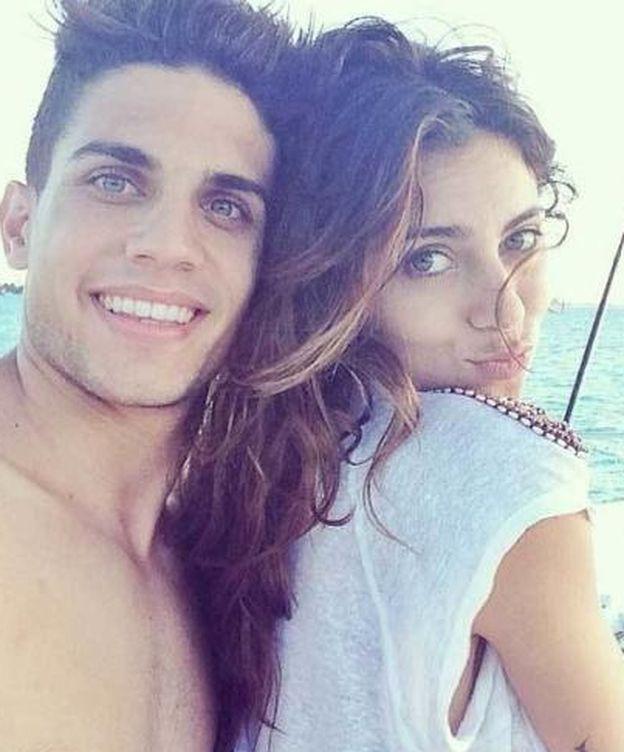 Foto: Marc Bartra y Melissa Jimenez en una foto de Instagram.