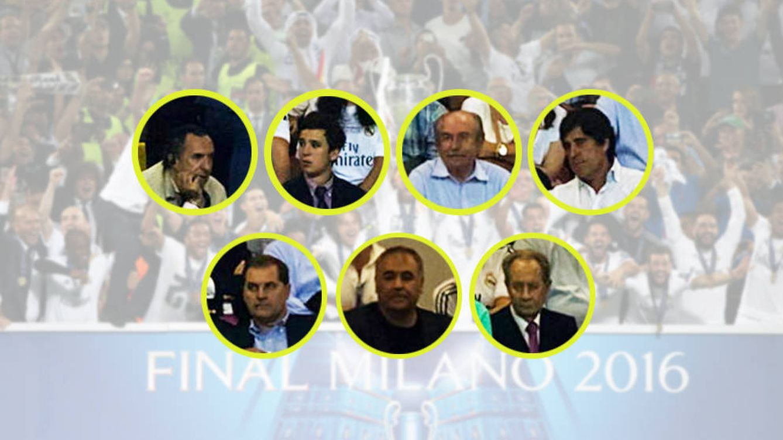 Los invitados vip que fueron a la final de Champions de Lisboa y repitieron en Milán