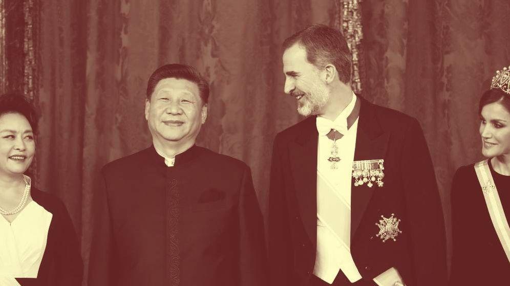 Foto: Recepción en el Palacio Real al presidente de China, esta semana. (EFE)