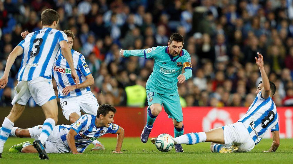 Foto: Esta vez Messi no apareció para darle la victoria al Barcelona. (EFE)