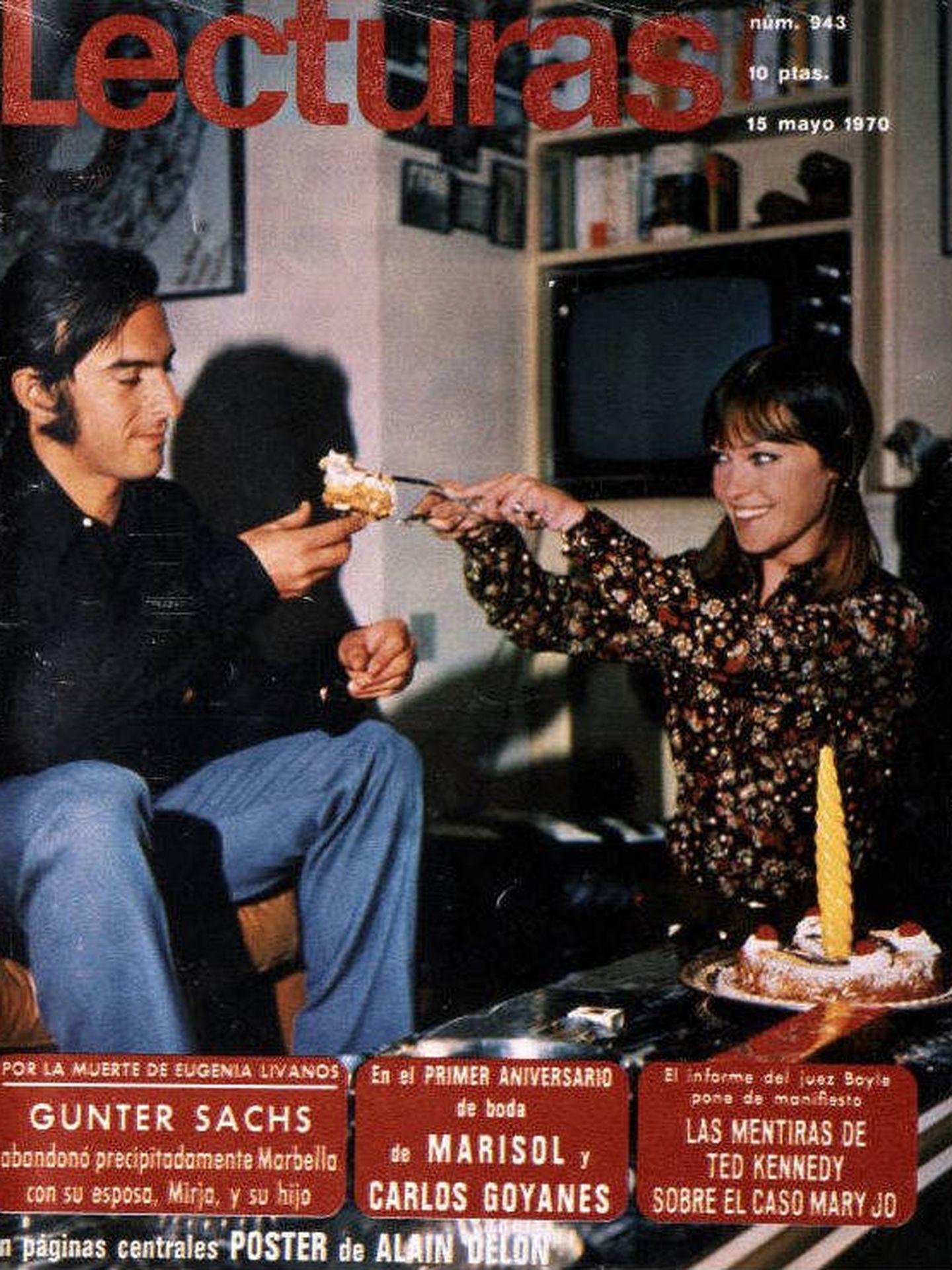 Marisol y Carlos Goyanes, portada de Lecturas en 1970 (Foto: Lecturas)