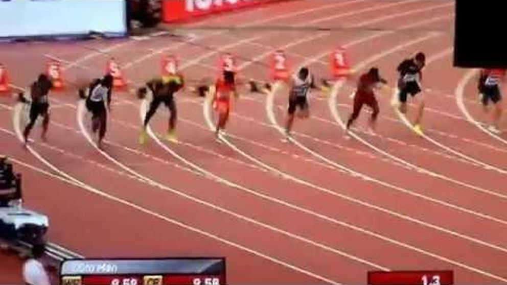 El gran susto de Usain Bolt en semifinales