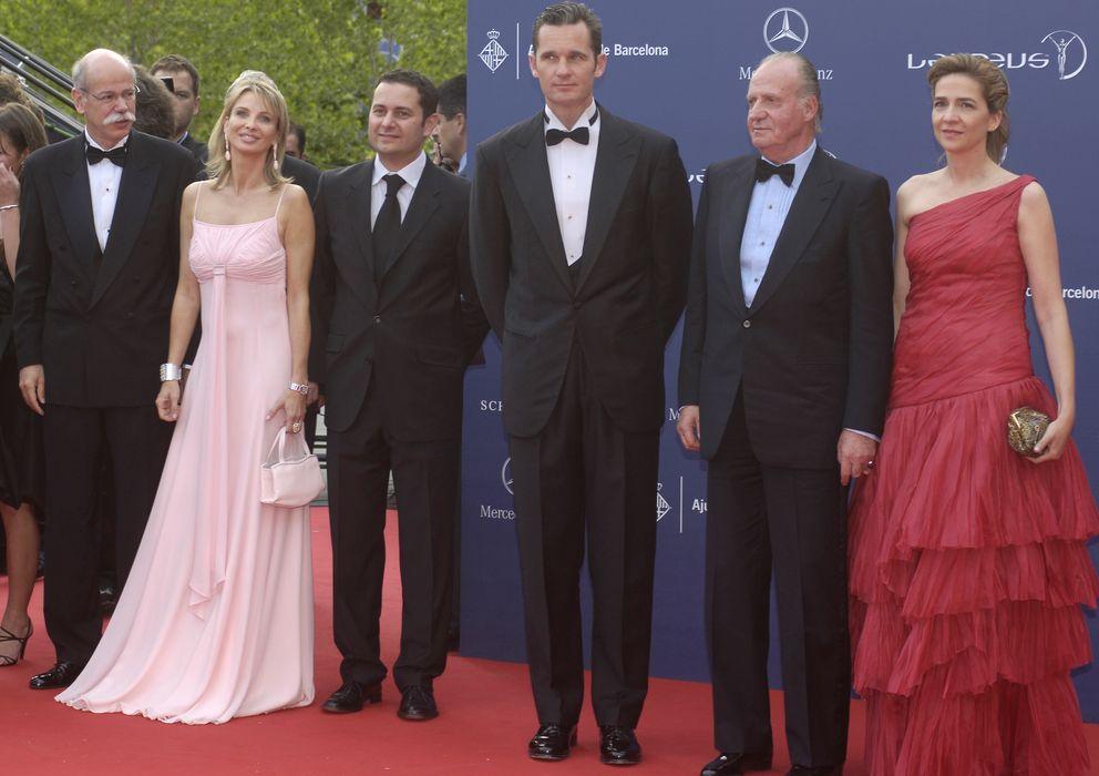 Foto: Corinna, junto al rey y los duques de Palma en los Premios Laureus 2006. (Gtres)