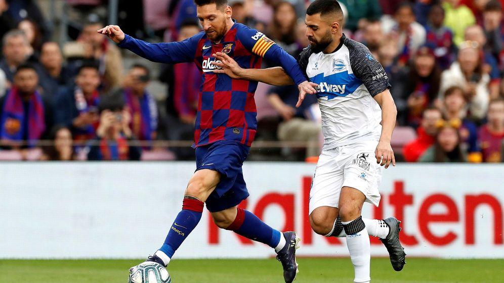 Foto: Imagen de Messi en el último partido del Barcelona en 2019, la victoria ante el Alavés. (EFE)