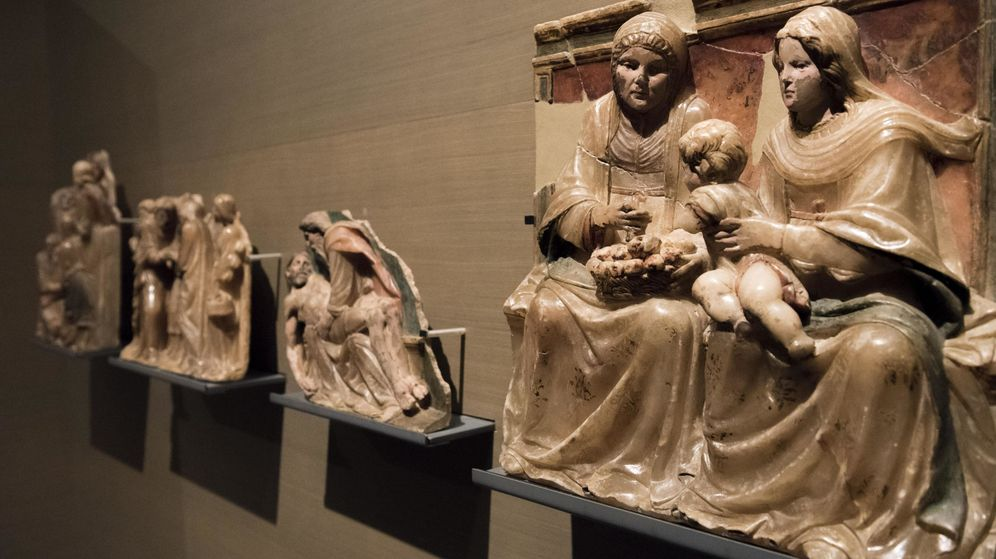 Foto: Obras del Monasterio de Sijena (Zaragoza) en el Museo de Lleida. (EFE)