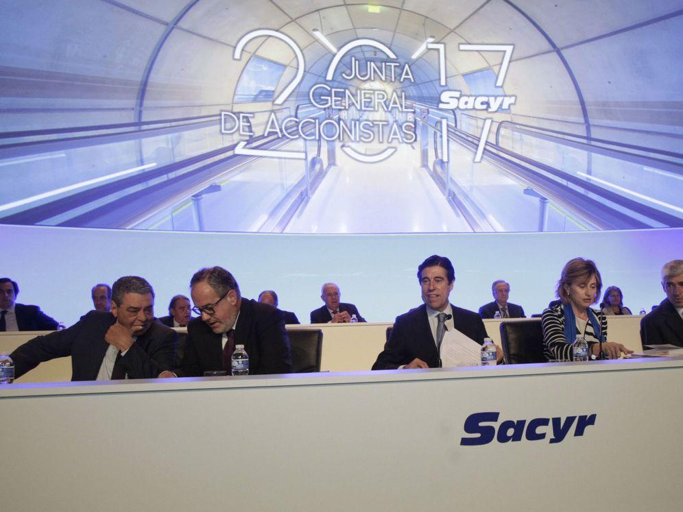 Foto: Junta de accionistas de Sacyr, en una imagen de archivo. (EFE)