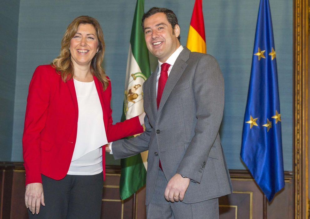 Foto: Susana Díaz y Juan Manuel Moreno (EFE)
