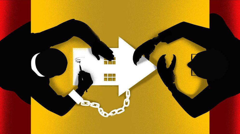 Foto: Europa vuelve a cuestionar el sistema hipotecario español... y aún no ha acabado. (Ilustración: Raúl Arias)