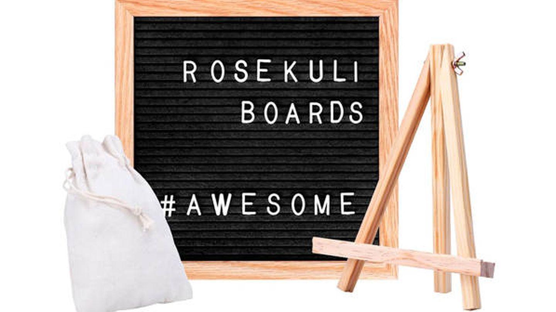 Tablero de letras de madera Rose Kuli