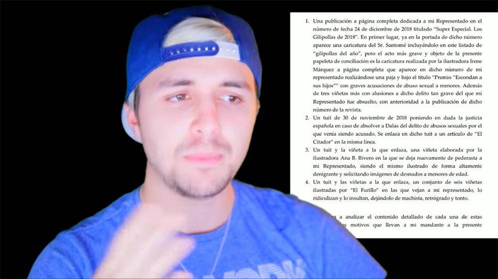 Foto: Dalas Review ha mostrado partes de la demanda que ha interpuesto contra El Jueves (Foto: YouTube)