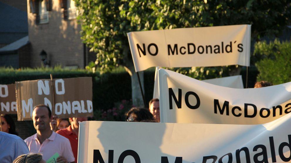 Los 'pijos' de Pozuelo, en guerra contra McDonald's: manifestaciones y pintadas
