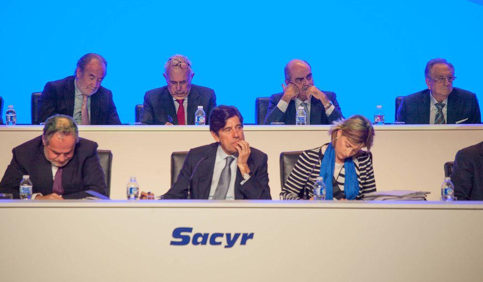 Foto: Fotografía de la junta general de accionistas de Sacyr. (Enrique Villarino)