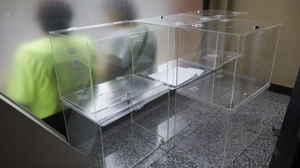 Foto: Urnas en el interior de la Asamblea Nacional Catalana. (EFE)