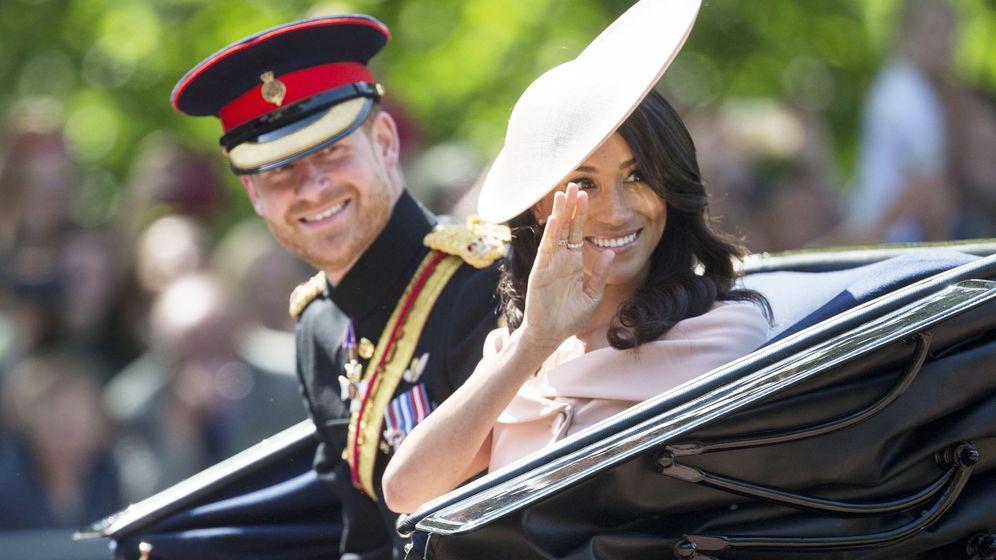 Foto: Los duques de Sussex en el último Trooping the Colour. (EFE)