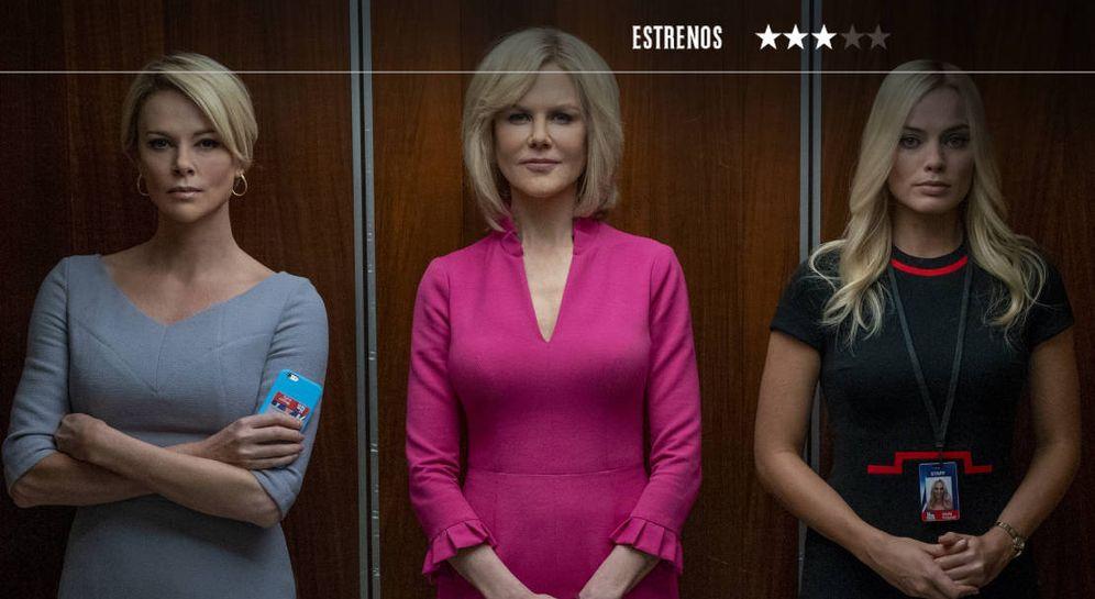 Foto: Charlize Theron, Nicole Kidman y Margot Robbie, en 'El escándalo'. (EOne)