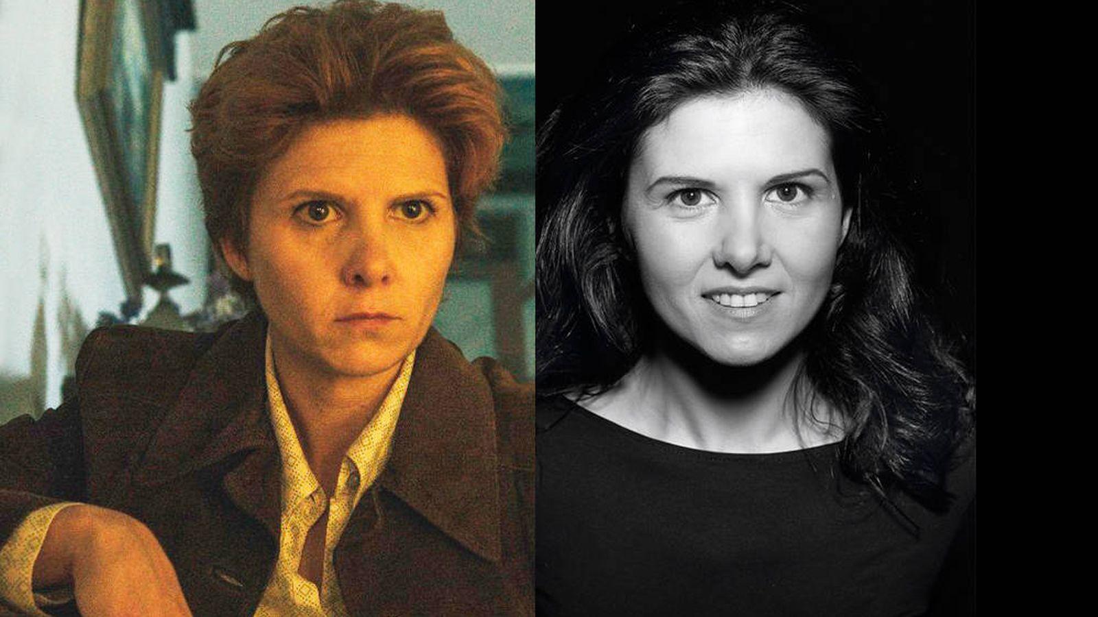Foto: Isabel Naveira caracterizada como Pilar Charlín (i) y en una imagen de su book profesional. (E. Villarino)