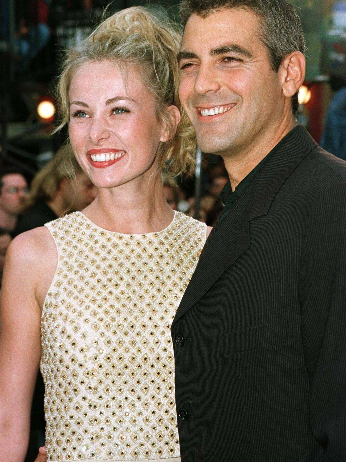 Céline Balitran, con George Clooney. (Reuters)