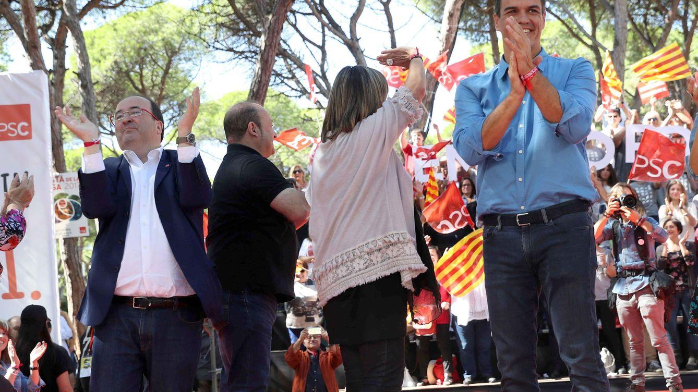 Sánchez refuerza su agenda en Cataluña en la recta final del 1-O y en apoyo a sus alcaldes