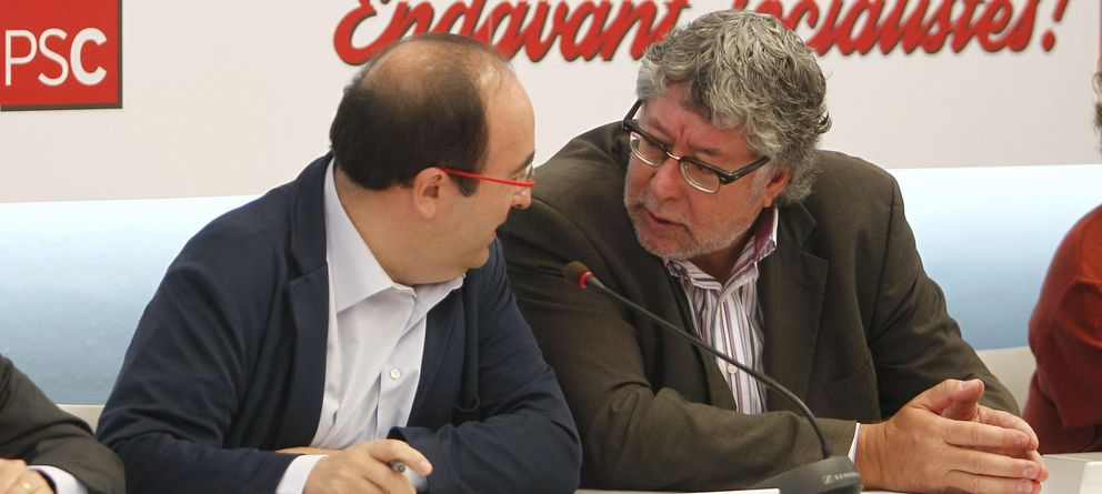Foto: El primer secretario del PSC, Miquel Iceta (i) y el secretario de coordinación, Antoni Balmón. (EFE)