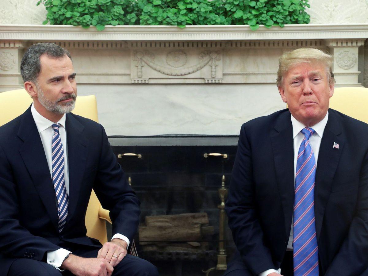Foto: El presidente de Estados Unidos Donald Trump, y el Rey Felipe VI. (EFE)