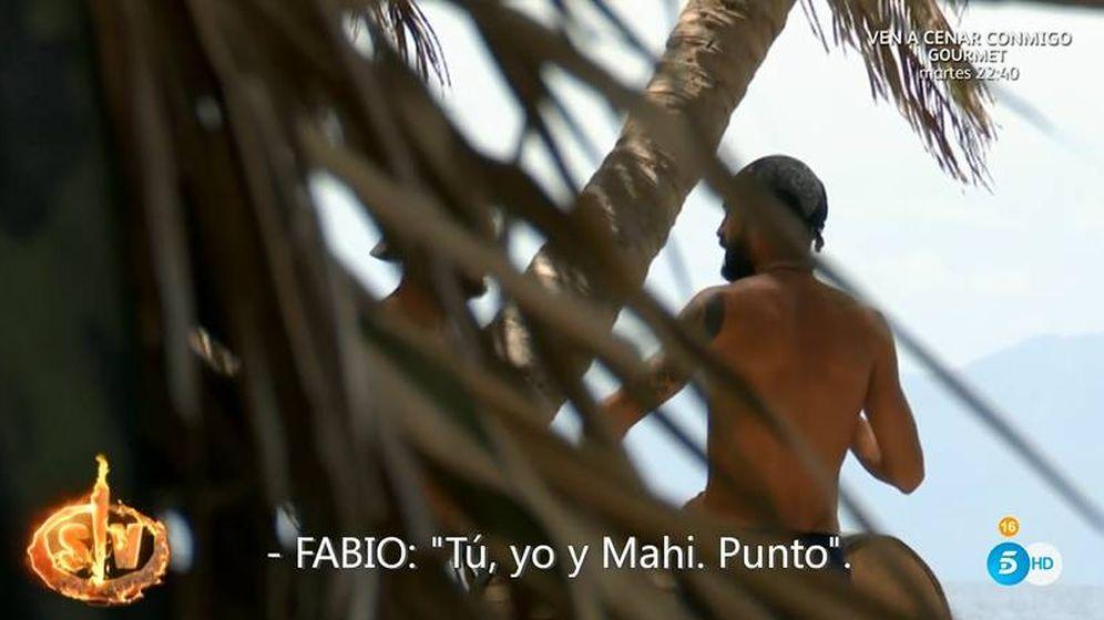 Foto: Fabio criticando a Albert en 'Supervivientes'. (Telecinco)