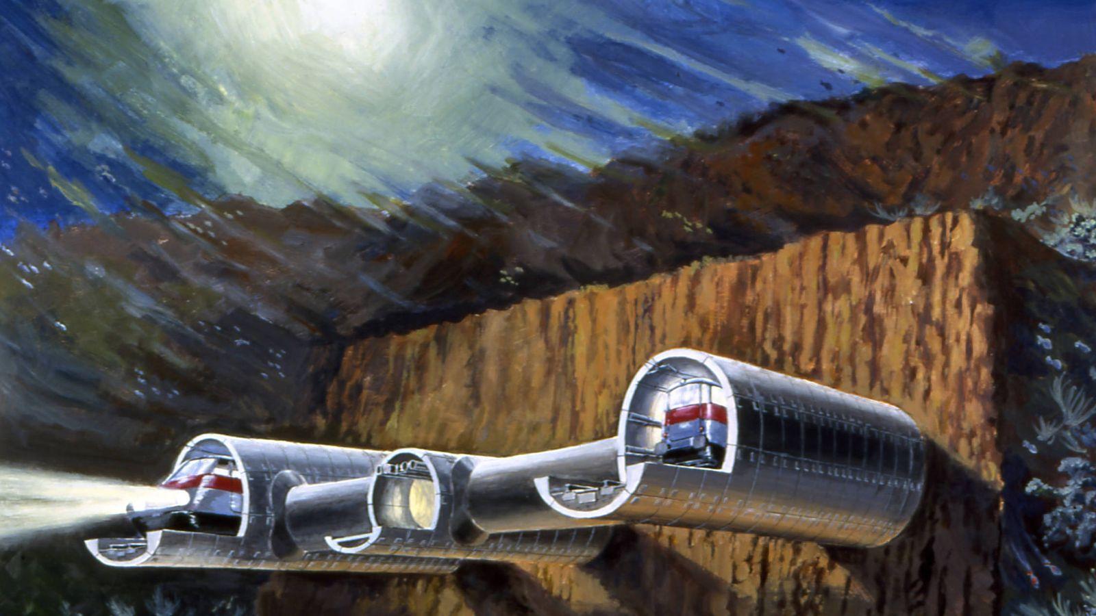 Foto: Ilustración del posible túnel bajo el estrecho de Gibraltar. (SECEGSA)