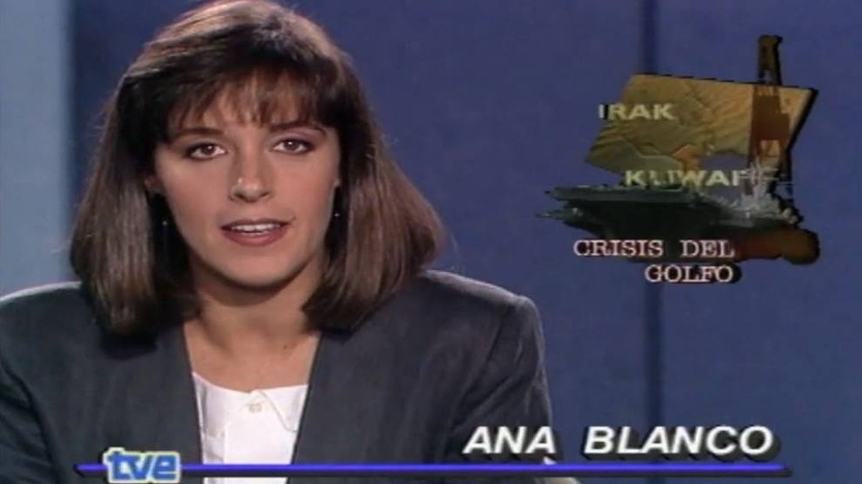 Ana Blanco, en su primer informativo en Televisión Española.