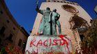 Atacan en Palma de Mallorca la estatua de fray Junípero Serra tras los sucesos de EEUU