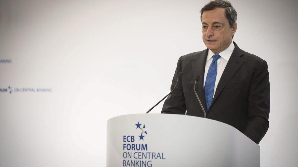 Foto: El presidente del BCE, Mario Draghi, durante su intervención en Sintra