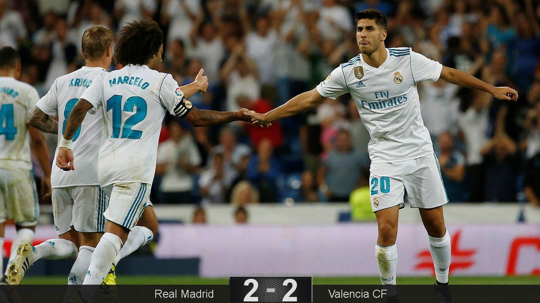 Foto: Asensio marcó los dos goles del Real Madrid. (Reuters)