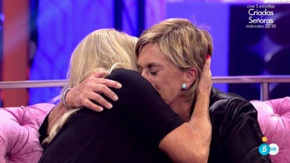 Bárara Rey y Chelo hacen las paces  entre lágrimas, en 'Hable con ellas'