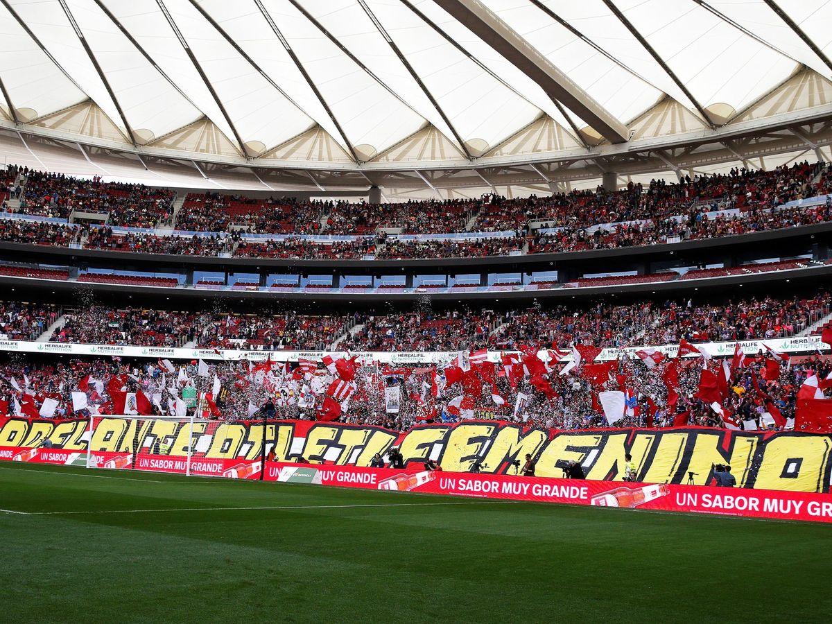 Foto: El Wanda Metropolitano se llenó la temporada pasada para ver un partido de fútbol femenino. (EFE)