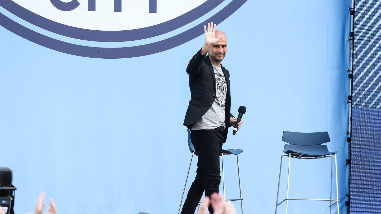 Pep Guardiola, durante su presentación como técnico del Manchester City. (EFE)