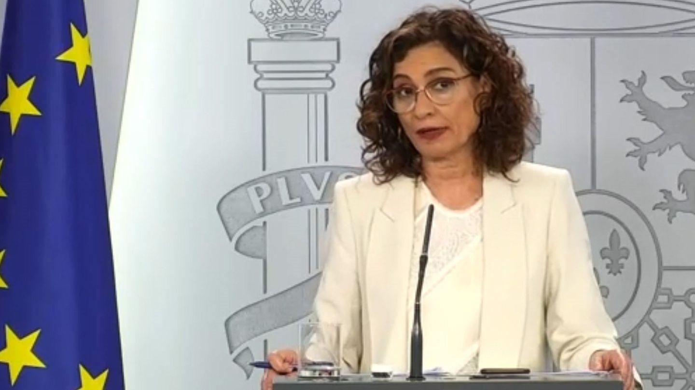 María Jesús Montero, este martes en Moncloa. (EFE)