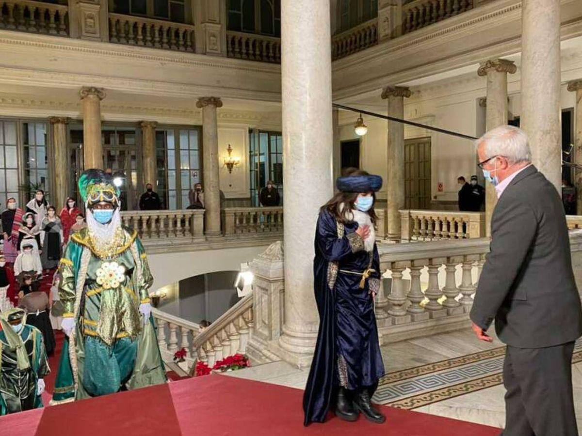 Foto: Joan Ribó, en la recepción de los Reyes Magos del pasado 5 de enero.