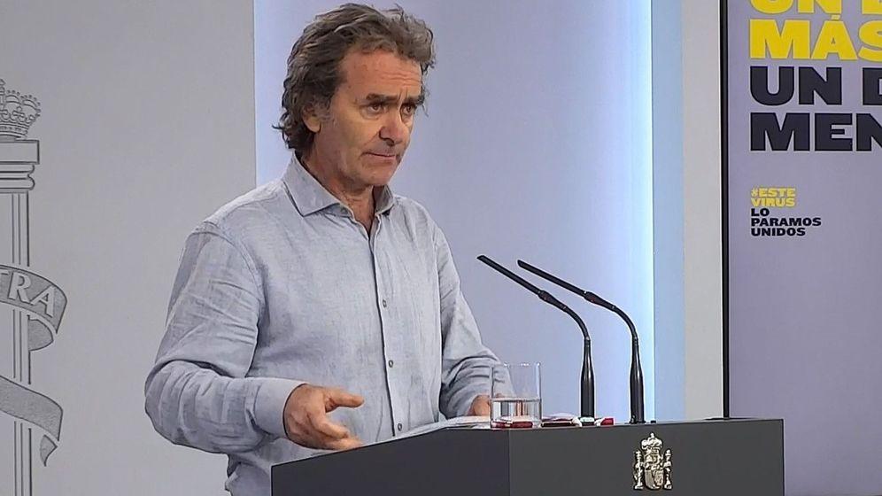 Foto: Fernando Simón, en una rueda de prensa en Moncloa. (EFE)
