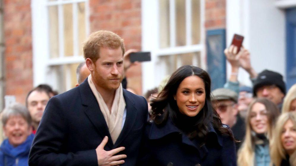 Foto: Meghan Markle durante su primer acto oficial junto al príncipe Harry.