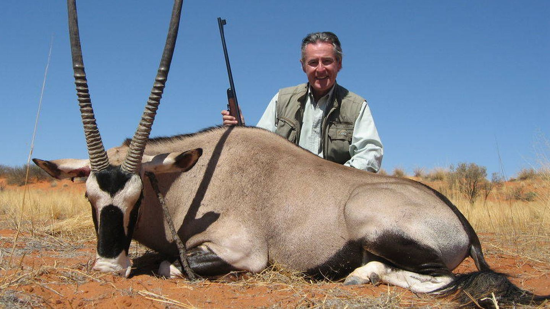 Blesa, en una cacería en Namibia. (EFE)
