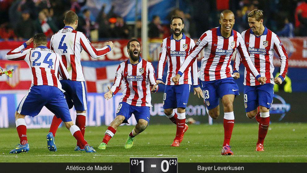 El Atlético fue el único que quiso ganar, pero lo hizo en los penaltis