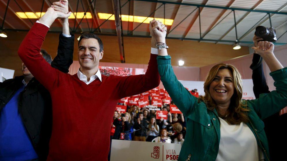 Foto: Pedro Sánchez, junto con Susana Díaz en un mitin. (Reuters)