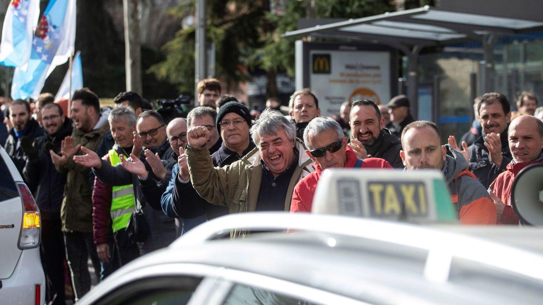 Foto: Undécimo día de huelga indefinida del sector del taxi