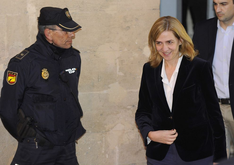 Foto: La infanta Cristina a la salida del juzgado de Palma de Mallorca. (Reuters)