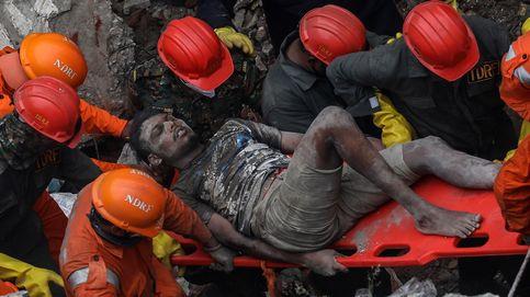Derrumbe de un edificio en India