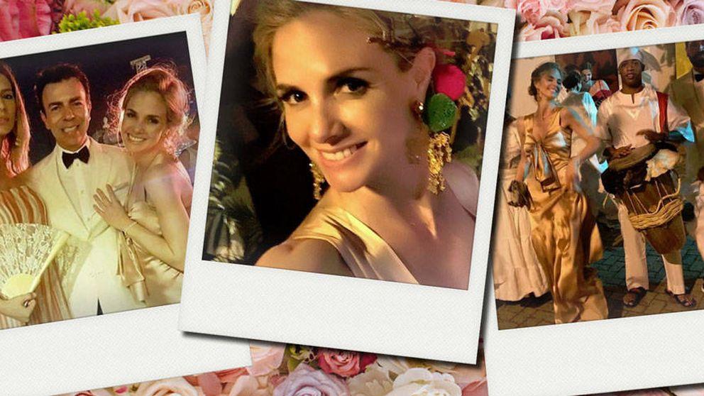 Genoveva Casanova, desenfreno caribeño en la boda de la nieta de Botero en Colombia