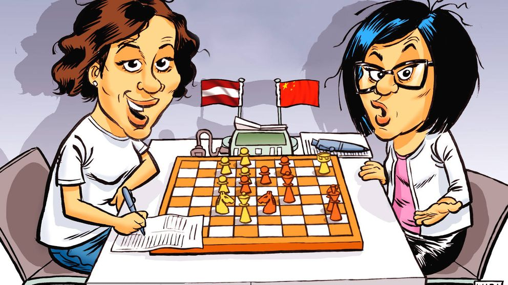 Así ganó una ministra de Letonia a una gran campeona mundial de ajedrez